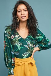 Vineet Bahl Abacos Tropical Blouse Green