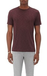 Theory Men's Gaskell N.Anemone T Shirt Burgundy