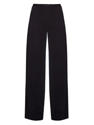 The Row Astrid Stretch Cady Wide Leg Trousers