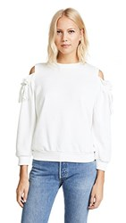 Evidnt Cold Shoulder Sweatshirt White
