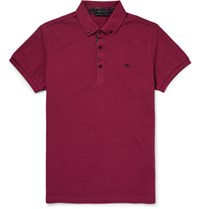 Etro Pailey Trimmed Cotton Pique Polo Hirt Claret