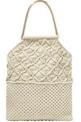 Ulla Johnson Kala Crocheted Cotton Tote Cream