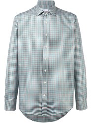 Etro Checked Shirt Green