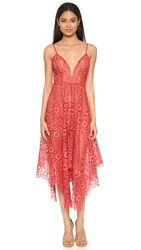 For Love And Lemons Rosemary Midi Dress Cherry