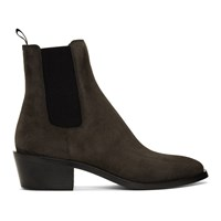 Givenchy Grey Suede Chelsea Boots