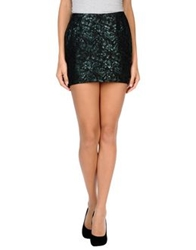 Blk Dnm Mini Skirts Dark Green