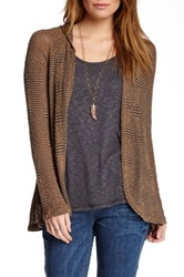 Miraclebody Jeans Heidi Harlem Knit Cardigan And Tank Set Brown
