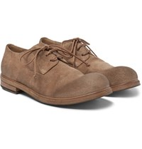 Marsell Suede Derby Shoes Tan