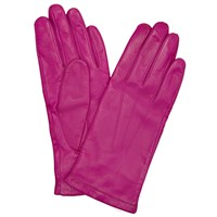 John Lewis Fleece Lined Leather Gloves Magenta
