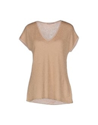 Chiara Bertani Sweaters Gold