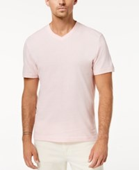Club Room Solid V Neck T Shirt Authentic Pink