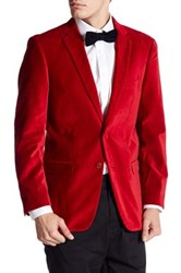 U.S. Polo Assn. Jim Red Two Button Notch Lapel Modern Fit Suit Separates Sports Coat