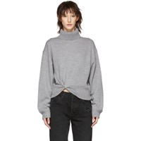 Alexander Wang T By Grey Double Layered Twist Turtleneck
