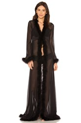 Kisskill Glam Feather Robe Black