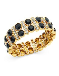 Anne Klein Stretch Cuff Bracelet Black