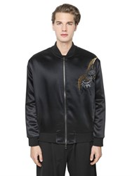 Ports 1961 Embellished Techno Satin Bomber Jacket