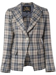 Vivienne Westwood Anglomania Checked Blazer Nude Neutrals