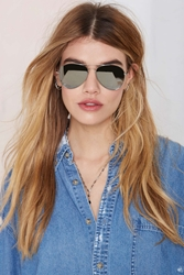 Nasty Gal On The Fly Reflective Aviator Shades