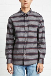 Forever 21 Slim Fit Striped Cotton Shirt