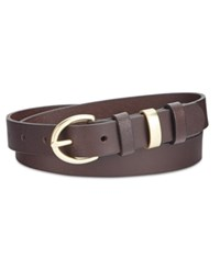 Inc International Concepts Triple Keeper Leather Pants Belt Only At Macy's Brown