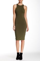 Sole Mio Racerback Bodycon Dress Green