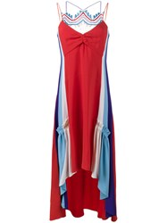 Peter Pilotto Asymmetric Crochet Dress Red