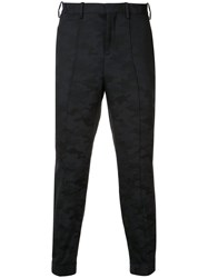 Neil Barrett Camouflage Tailored Trousers Blue