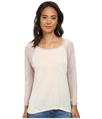 Obey Elowen Raglan Natural Dusty Lilac Women's Long Sleeve Pullover Neutral
