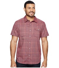 Mountain Hardwear Landis Short Sleeve Shirt Cote Du Rhone Men's Short Sleeve Button Up Pink