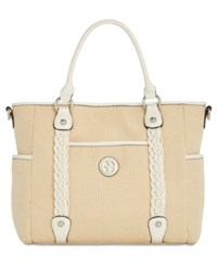 Giani Bernini Braided Medium Tote Created For Macy's Natural White