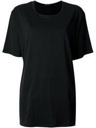 The Row Oversized T Shirt Black