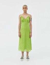 Which We Want Lucy Polka Dot Dress Green