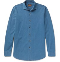 Tod's Slim Fit Denim Shirt Blue