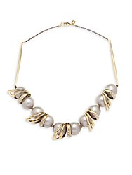 Alexis Bittar 10K Yellow Gold Crystal And 18Mm Pearl Necklace