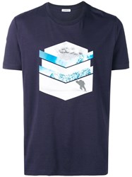 Dirk Bikkembergs Hit The Slopes T Shirt Blue