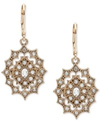 Lonna And Lilly Gold Tone Decorative Crystal Drop Earrings