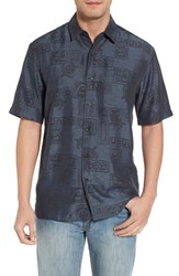 Kahala Sea Shells Classic Fit Sport Shirt Ash