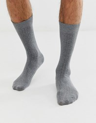 Selected Homme Rib Sock In Grey