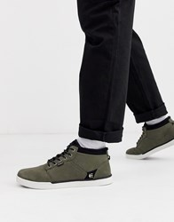 Etnies Jefferson Mid Trainers In Black Olive