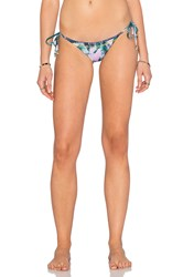 Pilyq Stitch Reversible Side Tie Bikini Bottom Purple