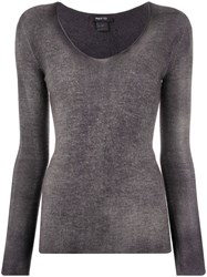 Avant Toi Fine Knit Long Sleeve Top 60
