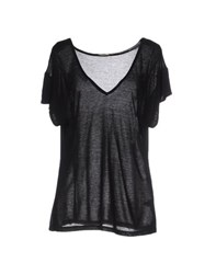 L'agence Topwear T Shirts Women Black