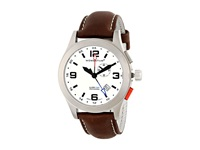 Momentum Vortech Gmt White Brown Leather Watches