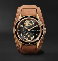 Montblanc 1858 Geosphere Limited Edition Automatic 42Mm Bronze And Leather Watch Black