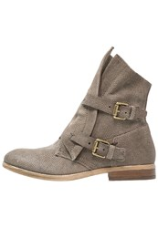 Mjus Nicole Cowboy Biker Boots Fossile Taupe