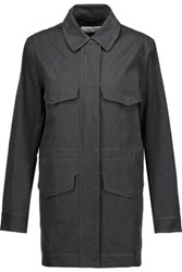 Rag And Bone Lily Cotton Canvas Jacket Dark Gray