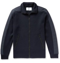 Aztech Mountain Bear Paw Quilted Shell And Merino Wool Jacket Navy