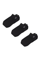 Z By Zella Nylon Sport Liner Socks Pack Of 3 Black