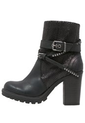 Replay High Heeled Ankle Boots Schwarz Black