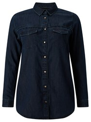 Maison Scotch Western Denim Shirt Dark Blue